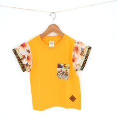Flower Palm Gold Yellow Tee www.ohmay.nl