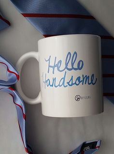 Gift for Boyfriend Hello Handsome  Mug by SincerelyEunice on Etsy, $15.00