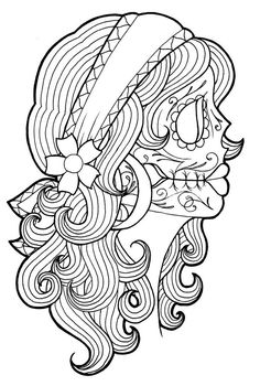 140 best Coloring Pages * Day of the Dead images on Pinterest in ...