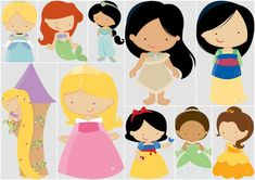 Ideas, Free Printables, Cakes, DIYs, Recipes and more for your Baby Showers and Parties for Babies. Disney Princess Babies, Disney Princess Party, Baby Princess, Princess Charlotte, Cute Disney, Disney Art, Disney Pixar, Rapunzel Disney, Disney Cookies