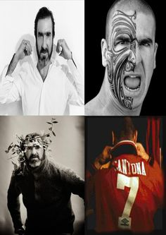 Eric Cantona ~ Born Éric Daniel Pierre Cantona 24 May 1966 (age 49) in  Marseille, France.  French actor and former international footballer for the French national team. He played for Auxerre, Martigues, Marseille, Bordeaux, Montpellier, Nîmes and Leeds United before ending his career at Manchester United where he won four Premier League titles in five years and two League and FA Cup Doubles.