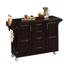 Large Black Create A Cart With Black Granite Top 682.99