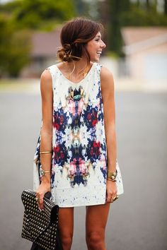 Summer clothes | white swing dress.