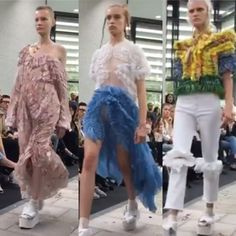 Preen catwalk London fashion week
