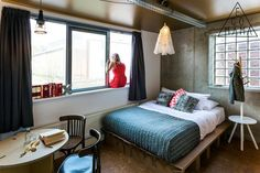Superiour double room with ensuite bathroom - Picture of Ecomama Hotel, Amsterdam - Tripadvisor Amsterdam, Double Room, Bathroom Pictures, Girl Decor, Dorm Room, Cool Designs, Bed, Furniture, Travel Info