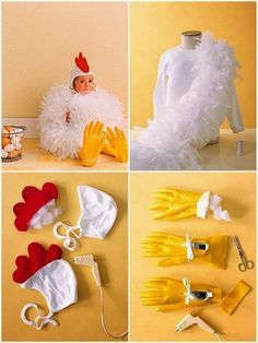 Do It Yourself Chicken Costume Chicken Costumes Chicken Diy Baby Chicken Costume Halloween 2013 Lovely Morning Chicken Costume Martha Stewart Halloween Chicken Costume Diy Felt Mask Tutorial By Chicken Costume Martha Stewart Diy Chicken Costume… Rooster Costume, Lamb Costume, Fish Costume, Unicorn Costume, Unicorn Shirt, Farmer Costume, Easy Costumes, Halloween Costumes For Kids, Halloween Crafts