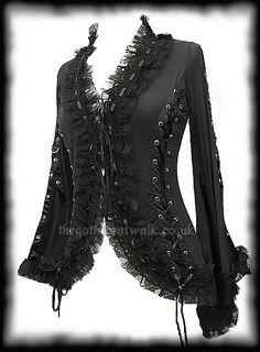 Black Gothic Corset Jacket perfect for @Lis Kean