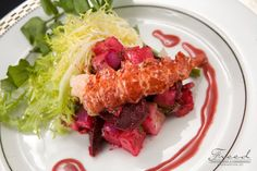 Poached Maine Lobster with Baby Beet, Avocado And Blood Orange Vinaigrette by Ridgewells Catering