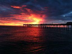 Beautiful sunset in Venice, Florida.