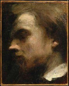 """ Henri Fantin-Latour, Self portrait, c.1858 """