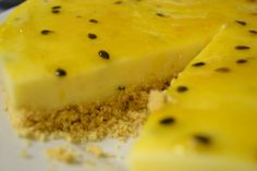Traditional Recipe of the Week: Granadilla Fridge Tart - Biltong St Marcus, , Cold Desserts, No Bake Desserts, Dessert Recipes, Yummy Recipes, Dessert Ideas, Sweet Pie, Sweet Tarts, Fridge Cake, Coconut Biscuits
