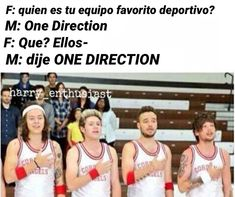 Read from the story Memes de One Direction by (𝖒𝖚𝖘𝖊) with reads. One Direction Jokes, Four One Direction, One Direction Photos, One Ditection, One Of The Guys, Canciones One Direction, 1d Tour, Larry Shippers, Stranger Things Netflix