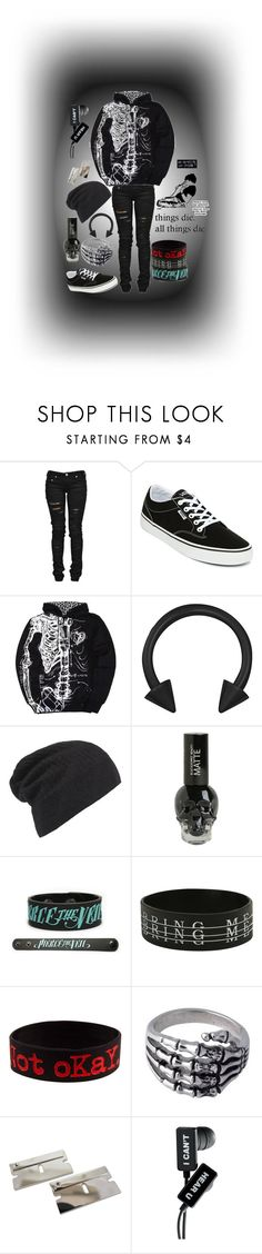 """"""".:the fear of falling apart:."""" by dontfallasleepatthehelmm ❤ liked on Polyvore featuring Denim of Virtue, Vans, Iron Fist, AllSaints, Hot Topic and Anello"""