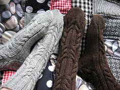 Ravelry: Nasti's Log cabin socks