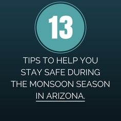 13 Tips To Keep You Safe During This Monsoon Season In #Arizona.  Monsoon and Dust-storm season is upon us. Not only can conditions be dangerous, but they can be catastrophic at time.  Below are tips to help you get through these storms if you are ever caught in one while driving:  Read More: - http://www.zacharlawblog.com/2013/07/tips-what-to-do-in-a-monsoon-or-haboob.html