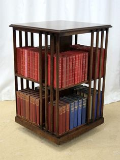 17 best bookcases images bookcase bookshelves revolving bookcase rh pinterest com