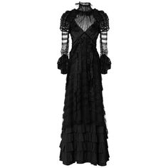 Marc Jacobs Forest Vintage Taffeta Tiered Victorian Gown (€8.900) ❤ liked on Polyvore featuring dresses, gowns, long dress, sequin dress, vintage evening dresses, sequin gown, striped dress and vintage ball gowns