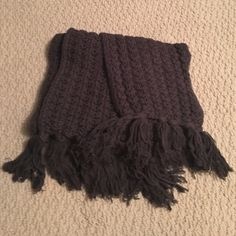 GAP scarf grey sweater like material with fringe. GAP scarf. NWOT. Beautiful weave and great size/thickness. GAP Accessories Scarves & Wraps