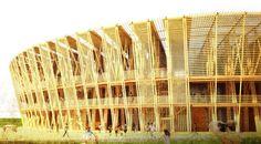 Chen Shen designs a temporary bamboo stadium