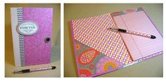 Annette's Creative Journey: Convention goodies - Memo Notebooks #tutorial