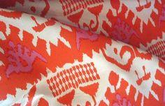 Quadrille Fabric  Kazak  Orange and Pink by livenUPdesign on Etsy, $170.00