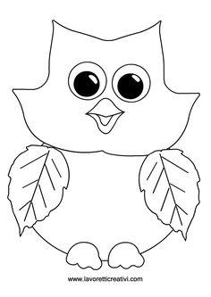 GUFO Sagome utili per realizzare un simpatico gufo di carta e foglie. Fall Arts And Crafts, Autumn Crafts, Fall Crafts For Kids, Autumn Art, Autumn Theme, Toddler Crafts, Preschool Crafts, Fall Coloring Pages, Coloring Sheets