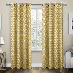 Exclusive Home Neptune Grommet Top Window Curtain Panel Pair - www.BedBathandBeyond.com