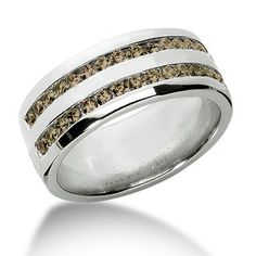 Jewelry Point - 1 Carat Channel-Set Champagne Diamond Men's Wedding Ring Two Rows, $1,750.00 (http://www.jewelrypoint.com/1-carat-channel-set-champagne-diamond-mens-wedding-ring-two-rows/)