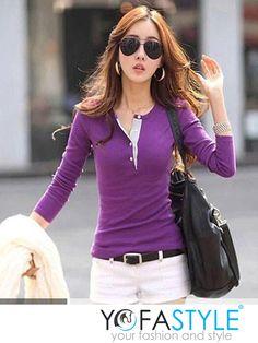 Áo thun nữ tay dài bo eo 2405 giá 110k link: http://worldfashion.vn/shop/ao-thun-nu-tay-dai-bo-eo-2405