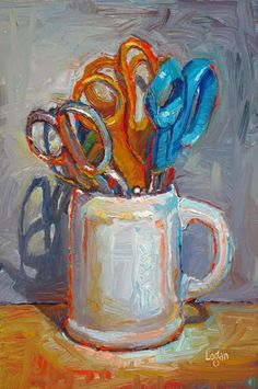 Raymond Logan wonder how this would look as an enlarged object the scissors in the cup would make a fascinating study