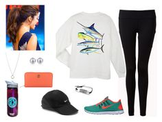 Casual Sunday by bubblebuddy855 on Polyvore featuring Guy Harvey, Forever 21, NIKE, Tory Burch, FOSSIL and Carolee
