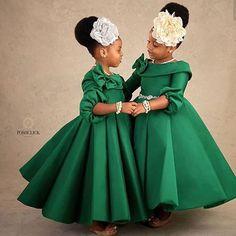Rhinestone Ornament Off-Shoulder Bowknot Belt Princess Dress African Dresses For Kids, African Wear Dresses, Latest African Fashion Dresses, Dresses Kids Girl, African Attire, Kids Outfits, Flower Girl Dresses, African Kids, Girls Pageant Dresses