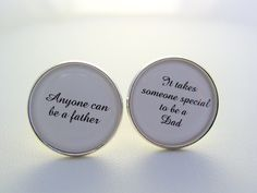 This makes a nice gift for your father, a great memory of your day and a wonderful way to show your appreciation for your father One pair of cuff links with the