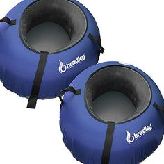 2) Heavy Duty Snow Sled Tubes w/Blue Cover. Huge Rubber Inner Tube Ski Sledding