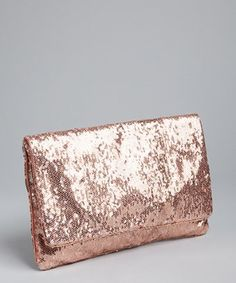 BCBGMAXAZRIA sandalwood sequined foldover clutch | BLUEFLY up to 70% off designer brands