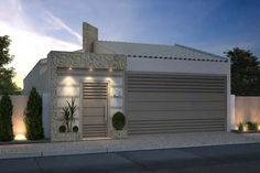 Best 12 Reggie' s modern wall – SkillOfKing. Modern Fence Design, Modern House Design, Modern Staircase, Staircase Design, Door Gate Design, Dream House Plans, Facade House, Building Design, Exterior Design
