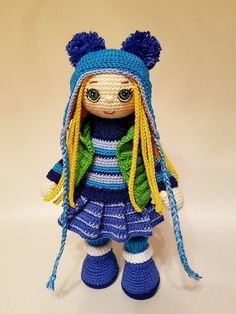 ♥ photo only, but super cute crocheted doll ❤