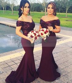 Burgundy Sequined Mermaid Bridesmaids Dresses New Arrival Off The Shoulder Wedding Party Gowns 2017 Long Maid Of Honor Dress For Women Turquoise Bridesmaid Dresses Vintage Bridesmaid Dresses From Rencontre, $98.02| Dhgate.Com