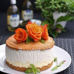 Sommerliche Pfirsich Bisquit Torte 🍑