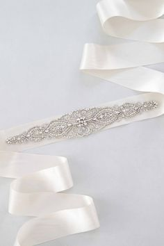 bridal sash to complete your gown on the special day, Dahlia Bridal Sash Swarovski Crystals Wedding by BrideLaBoheme