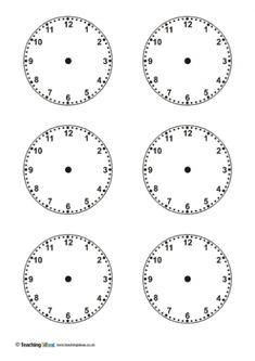 blank clock faces piece … | Pinteres…