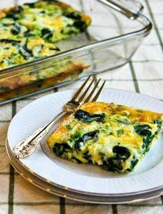 Spinach and Mozzarella Egg Bake found on KalynsKitchen.com