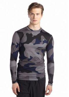 SB Tech  Long Sleeve Printed Compression Crew Shirt
