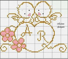 New knitting charts alphabet monograms ideas Cross Stitching, Cross Stitch Embroidery, Cross Stitch Patterns, Crochet Patterns, Diy Knitting Needle Case, Knitting Charts, Cross Stitch Heart, Cross Stitch Alphabet, Seed Stitch
