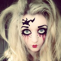 Creepy cracked doll makeup for Halloween, for a tutorial: https://www.youtube.com/watch?v=8uDtB7md3Qg