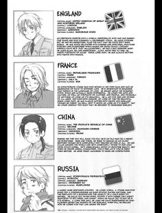 Hetalia ~~~ Character info << this is so old