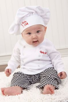 Big Dreamzzz Baby Chef Three-Piece Layette in Culinary Themed Gift Box