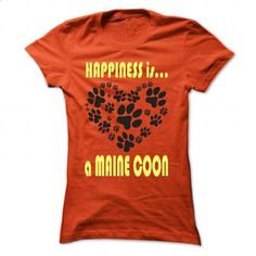 Limited Edition Happiness is a Maine Coon - #crochet sweater #sweater pillow. CHECK PRICE => https://www.sunfrog.com/Pets/Limited-Edition-Happiness-is-a-Maine-Coon-Orange-27857027-Ladies.html?68278