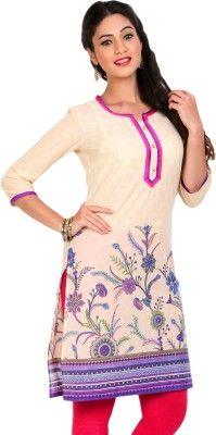Aaboli Printed Women's Straight Kurta - Buy Purple Aaboli Printed Women's Straight Kurta Online at Best Prices in India | Flipkart.com
