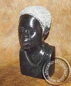 An African hand carved stone tribal bust of an old tribesman. This African hand carved stone tribal bust stands at 15 cm tall and originates from Zimbabwe where you can find some of the finest stone carvers on the planet. Royal Lineage, Heart Piercing, Stone Carving, African Women, Hand Carved, Sculptures, Statue, Woman, Stone Sculpture